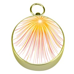 Fireworks Yellow Light Gold Compasses by AnjaniArt