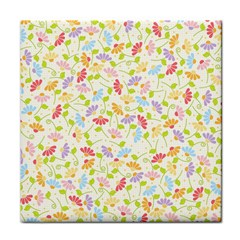 Flower Rainbow Sexy Leaf Plaid Vertical Horizon Tile Coasters by AnjaniArt