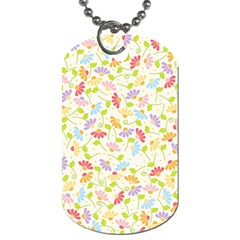 Flower Rainbow Sexy Leaf Plaid Vertical Horizon Dog Tag (two Sides) by AnjaniArt