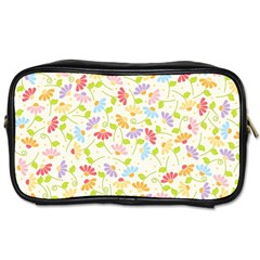 Flower Rainbow Sexy Leaf Plaid Vertical Horizon Toiletries Bags 2 Side