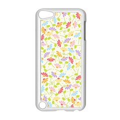 Flower Rainbow Sexy Leaf Plaid Vertical Horizon Apple Ipod Touch 5 Case (white) by AnjaniArt