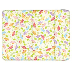 Flower Rainbow Sexy Leaf Plaid Vertical Horizon Samsung Galaxy Tab 7  P1000 Flip Case by AnjaniArt