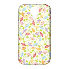 Flower Rainbow Sexy Leaf Plaid Vertical Horizon Samsung Galaxy S4 Classic Hardshell Case (pc+silicone) by AnjaniArt