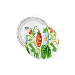 Fruit Flower Leaf Red White Green Starflower 1 75  Buttons by AnjaniArt
