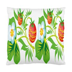 Fruit Flower Leaf Red White Green Starflower Standard Cushion Case (two Sides) by AnjaniArt