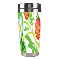 Fruit Flower Leaf Red White Green Starflower Stainless Steel Travel Tumblers