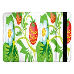 Fruit Flower Leaf Red White Green Starflower Samsung Galaxy Tab Pro 12 2  Flip Case by AnjaniArt