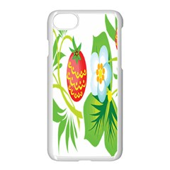 Fruit Flower Leaf Red White Green Starflower Apple Iphone 7 Seamless Case (white) by AnjaniArt