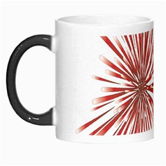 Happy New Year City Semmes Fireworks Rainbow Red Blue Yellow Purple Sky Morph Mugs by AnjaniArt