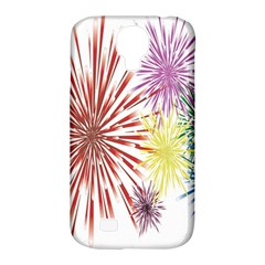 Happy New Year City Semmes Fireworks Rainbow Red Blue Yellow Purple Sky Samsung Galaxy S4 Classic Hardshell Case (pc+silicone) by AnjaniArt