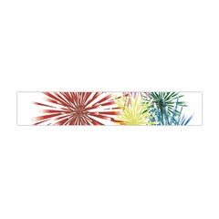 Happy New Year City Semmes Fireworks Rainbow Red Blue Yellow Purple Sky Flano Scarf (mini) by AnjaniArt