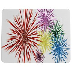 Happy New Year City Semmes Fireworks Rainbow Red Blue Yellow Purple Sky Jigsaw Puzzle Photo Stand (rectangular) by AnjaniArt