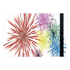 Happy New Year City Semmes Fireworks Rainbow Red Blue Yellow Purple Sky Apple Ipad Pro 10 5   Flip Case by AnjaniArt