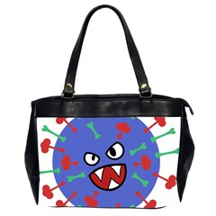 Monster Virus Blue Cart Big Eye Red Green Office Handbags (2 Sides)  by AnjaniArt