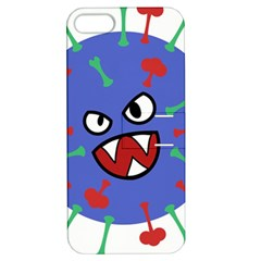 Monster Virus Blue Cart Big Eye Red Green Apple Iphone 5 Hardshell Case With Stand