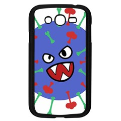 Monster Virus Blue Cart Big Eye Red Green Samsung Galaxy Grand Duos I9082 Case (black)