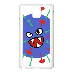 Monster Virus Blue Cart Big Eye Red Green Samsung Galaxy Note 3 N9005 Case (white) by AnjaniArt