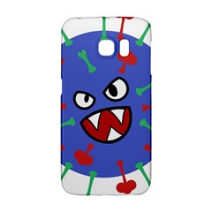 Monster Virus Blue Cart Big Eye Red Green Galaxy S6 Edge by AnjaniArt