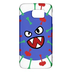 Monster Virus Blue Cart Big Eye Red Green Galaxy S6 by AnjaniArt