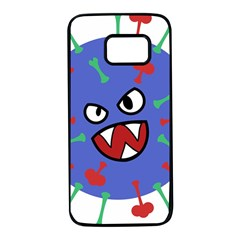 Monster Virus Blue Cart Big Eye Red Green Samsung Galaxy S7 Black Seamless Case by AnjaniArt