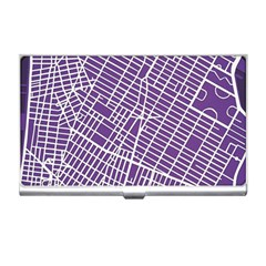 New York Map Art City Street Purple Line Business Card Holders