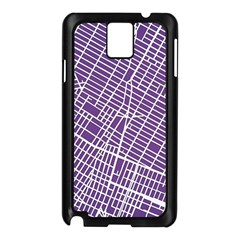 New York Map Art City Street Purple Line Samsung Galaxy Note 3 N9005 Case (black)