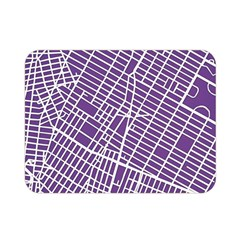 New York Map Art City Street Purple Line Double Sided Flano Blanket (mini)  by AnjaniArt