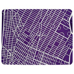 New York Map Art City Street Purple Line Jigsaw Puzzle Photo Stand (rectangular) by AnjaniArt