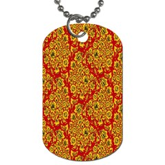 Flower Rose Red Yellow Sexy Dog Tag (two Sides) by AnjaniArt