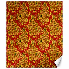 Flower Rose Red Yellow Sexy Canvas 20  X 24
