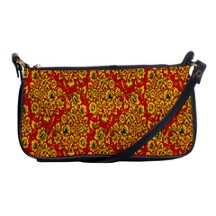 Flower Rose Red Yellow Sexy Shoulder Clutch Bags by AnjaniArt