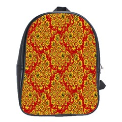 Flower Rose Red Yellow Sexy School Bag (xl) by AnjaniArt
