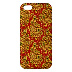 Flower Rose Red Yellow Sexy Apple Iphone 5 Premium Hardshell Case