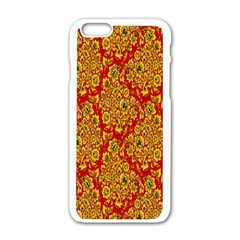 Flower Rose Red Yellow Sexy Apple Iphone 6/6s White Enamel Case by AnjaniArt