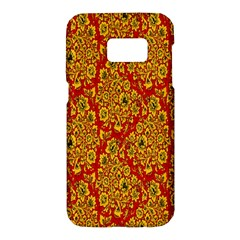 Flower Rose Red Yellow Sexy Samsung Galaxy S7 Hardshell Case  by AnjaniArt