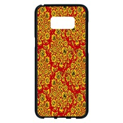 Flower Rose Red Yellow Sexy Samsung Galaxy S8 Plus Black Seamless Case