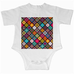 Flower Star Sign Rainbow Sexy Plaid Chevron Wave Infant Creepers