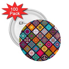 Flower Star Sign Rainbow Sexy Plaid Chevron Wave 2 25  Buttons (100 Pack)