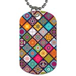Flower Star Sign Rainbow Sexy Plaid Chevron Wave Dog Tag (Two Sides) Back