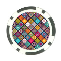 Flower Star Sign Rainbow Sexy Plaid Chevron Wave Poker Chip Card Guard by AnjaniArt