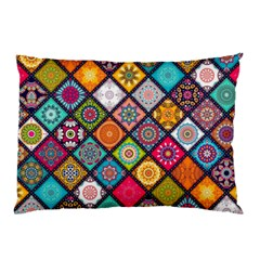 Flower Star Sign Rainbow Sexy Plaid Chevron Wave Pillow Case by AnjaniArt