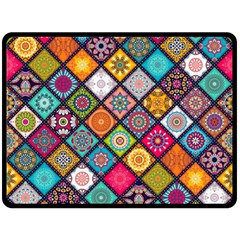Flower Star Sign Rainbow Sexy Plaid Chevron Wave Fleece Blanket (large)