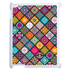 Flower Star Sign Rainbow Sexy Plaid Chevron Wave Apple Ipad 2 Case (white) by AnjaniArt
