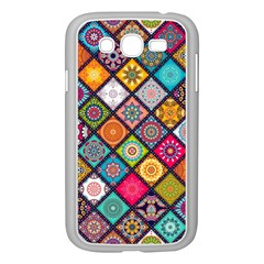 Flower Star Sign Rainbow Sexy Plaid Chevron Wave Samsung Galaxy Grand Duos I9082 Case (white)