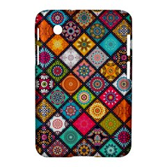 Flower Star Sign Rainbow Sexy Plaid Chevron Wave Samsung Galaxy Tab 2 (7 ) P3100 Hardshell Case  by AnjaniArt