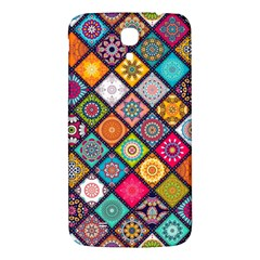 Flower Star Sign Rainbow Sexy Plaid Chevron Wave Samsung Galaxy Mega I9200 Hardshell Back Case by AnjaniArt