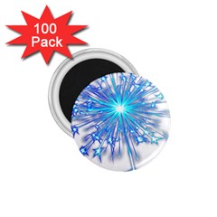 Fireworks Sky Blue Silver Light Star Sexy 1 75  Magnets (100 Pack)  by AnjaniArt