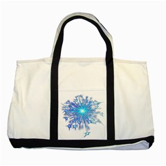 Fireworks Sky Blue Silver Light Star Sexy Two Tone Tote Bag