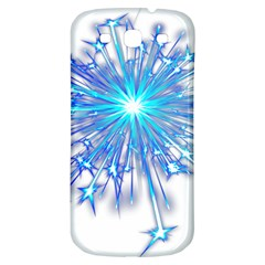 Fireworks Sky Blue Silver Light Star Sexy Samsung Galaxy S3 S Iii Classic Hardshell Back Case by AnjaniArt