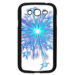 Fireworks Sky Blue Silver Light Star Sexy Samsung Galaxy Grand Duos I9082 Case (black) by AnjaniArt